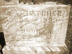 """Minnesota Arizona """"Minnie"""" <I>Rhyne</I> Hatcher"""