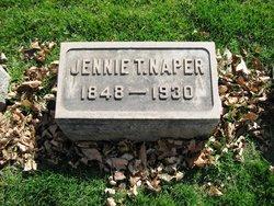 """Jane """"Jennie"""" <I>Thomas</I> Naper"""
