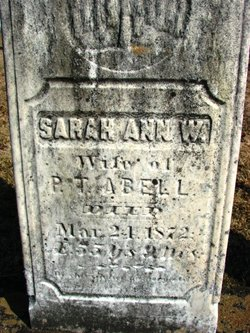 Sarah Ann <I>Daggett</I> Abell