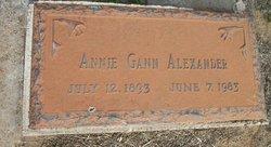 Annie Belle <I>Gann</I> Alexander