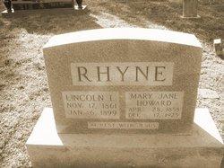 Mary Jane <I>Howard</I> Rhyne