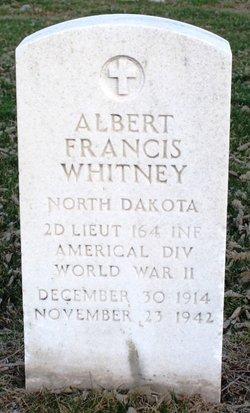 2LT Albert Francis Whitney