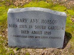 """Mary Ann """"Polly"""" <I>Bamberg</I> Hobson"""