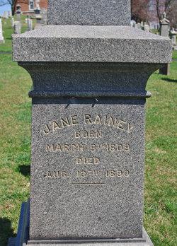 Jane <I>Thomas</I> Rainey