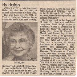 Iris <I>Buchanan</I> Hafen