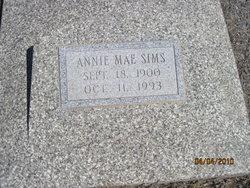 Annie Mae <I>Tims</I> Sims