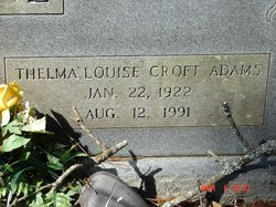 Thelma Louise <I>Croft</I> Adams Erskine
