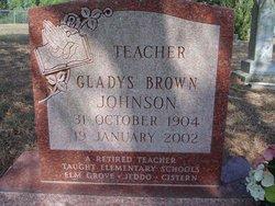 Gladys <I>Brown</I> Johnson