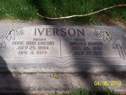 Annie May <I>Larson</I> Iverson