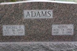 Mrs Rachel E. <I>Pointer</I> Adams