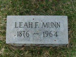 Leah F <I>Andrews</I> Munn