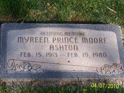Myreen Prince <I>Moore</I> Ashton