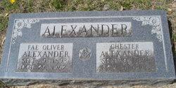 """Fae Elizabeth """"Lizzie"""" <I>Oliver</I> Alexander"""