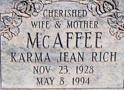 Karma Jean <I>Rich</I> McAffee
