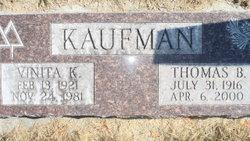 Vinita Kathleen <I>Jaggers</I> Kaufman
