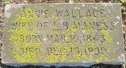 "Sindy Anne ""Annie"" <I>Wallace</I> Maness"