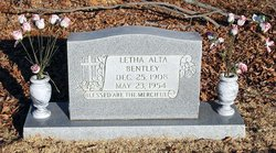Letha Alta <I>Russell</I> Bentley