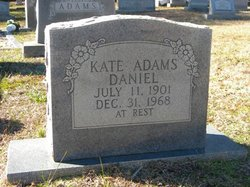 "Katherine Evelyn ""Kate"" <I>Adams</I> Daniel"