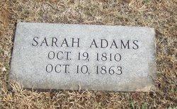 Sarah <I>Tinley</I> Adams