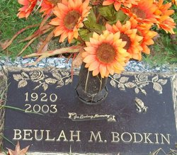 Beulah M Bodkin