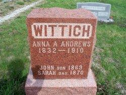 Anna A. <I>Andrews</I> Wittich