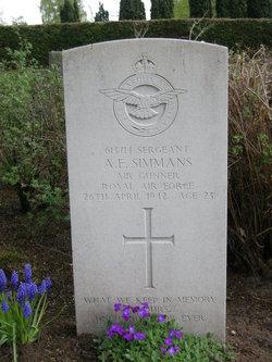 Sergeant (Air Gnr.) Albert Edward Simmans