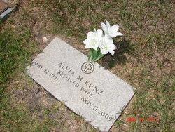 Alvia Marie <I>Nickell</I> Kunz