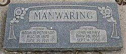 Anna Mary <I>Peterson</I> Manwaring