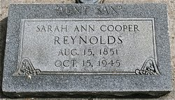Sarah Ann <I>Williams</I> Reynolds