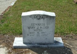 "Mary Janette ""Nettie"" <I>Elder</I> Edwards"