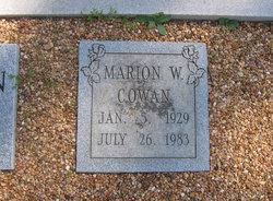 Marion Hansine <I>Walden</I> Cowan