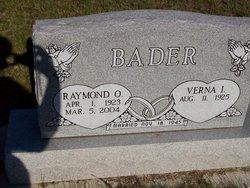 Raymond O Bader