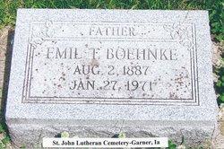 """Emil Theodore """"(E.T.)"""" Boehnke"""