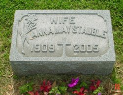 Anna May <I>Eisenbeis</I> Stauble