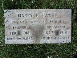 Pvt Harry Laurin Hawke