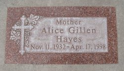 Alice Marie <I>Gillen</I> Hayes