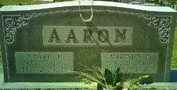 """Marinda Elizabeth """"Rinda"""" <I>Gaddy</I> Aaron"""