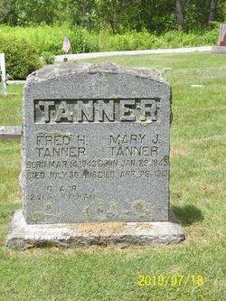 Mary J <I>Chaplin</I> Tanner