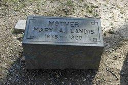 """Mary Ann """"Mamie"""" <I>Leininger</I> Landis"""