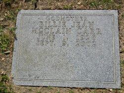 Billie Jean <I>McClain</I> Carr