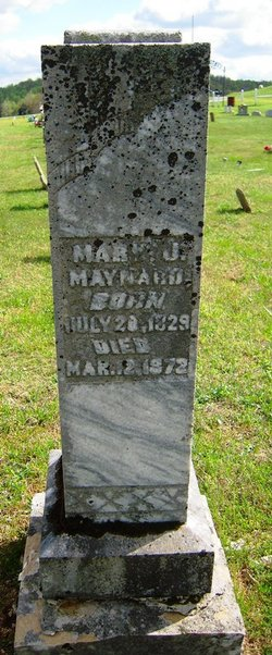 Mary Jane <I>Hunter</I> Maynard