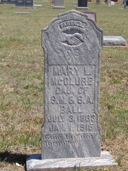"Mary Llizabeth ""Mollie"" <I>Ball</I> McClure"