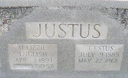 """Mary Elizabeth """"Lizzie"""" <I>English</I> Justus"""