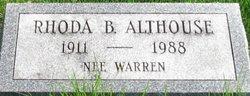 Rhoda Burdian <I>Warren</I> Althouse