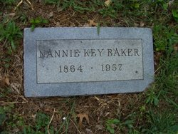 "Mamie ""Nannie"" <I>Key</I> Baker"