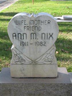 Ann Mildred <I>Walker</I> Nix