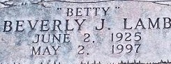 "Beverly Jane ""Betty"" <I>Lamb</I> Moss"