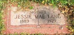 Jessie Mae <I>Clossen</I> Lang
