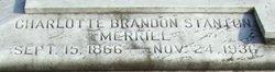 Charlotte Brandon <I>Stanton</I> Merrill
