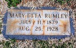 Mary Etta Rumley